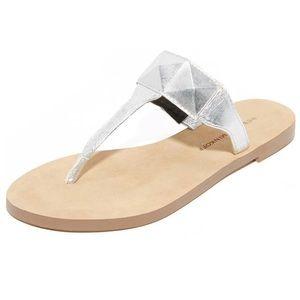 NWOT Rebecca Minkoff Silver Sandals